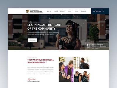 School Homepage web design education school ux ui