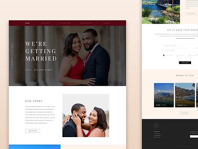 Wedding Website wedding wedding design design web design ux ui