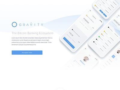 Pre Register Reskin platform mobile minimal investment gravity fintech design cryptocurrency bitstocks bitcoin artificial intelligence app design ai crypto bank web design ux ui