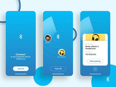 bluetooth app blue elegant design ui app design figma app ux design