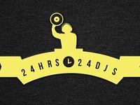 24 Djs Logo Design