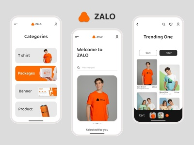 Zalo application design uidesign web mock-up uxdesign