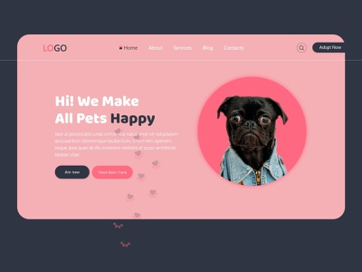 Pet Hub uidesign illustration ui  ux webdesign responsive design design mock-up
