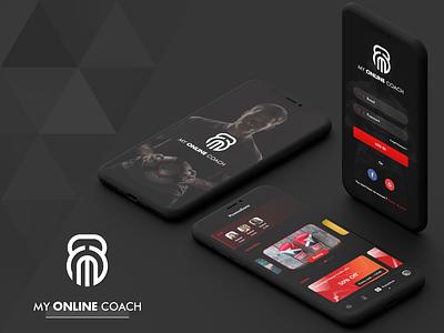 D sprot coach application design ui ui  ux design mock-up