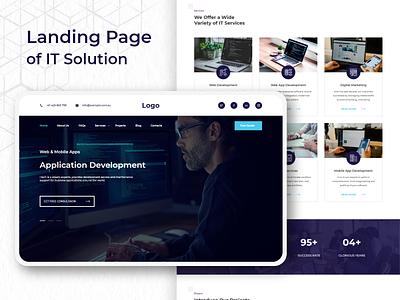 IT Solution web ui webdesign uxdesign uidesign responsive design ui  ux design mock-up