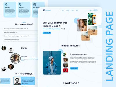 Landing Page web ui illustration web webdesign uxdesign uidesign responsive design ui  ux design mock-up