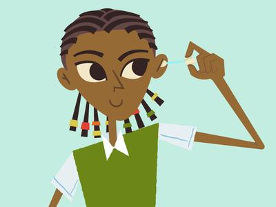 Ethiopian Girl Cleaning Ear