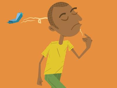 Ethiopian Boy Throwing Wrapper