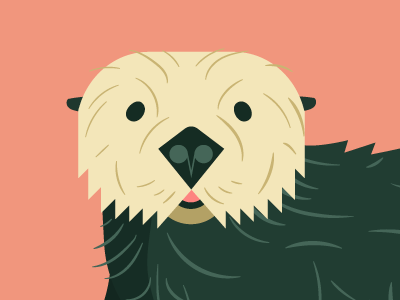 Sea Otter—Seattle Aquarium 2016 charley harper kids advertising non-profit zoo minimalism minimal flat vector illustration cartoon animal