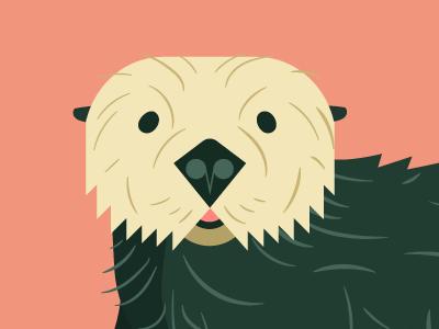 Sea Otter—Seattle Aquarium 2016 charley harper kids advertising non-profit zoo minimalism minimal flat vector illustration cartoon animal