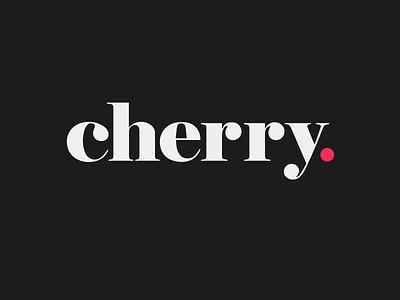 Cherry lockup wordmark logo branding identity brand