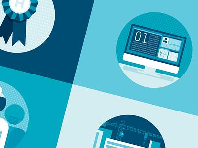 Some Iconz non-profit medical medicine minimal flat corporate hospital seattle infographic badges icons