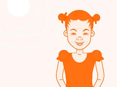 NGO Character Exploration africa girl non-profit drawing line monochromatic illustration