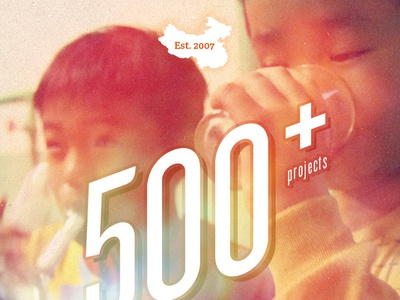 500+ projects