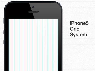 iPhone5 Grid System [PSD] iphone5 grid system psd