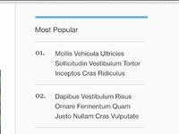 Most Popular Entries List