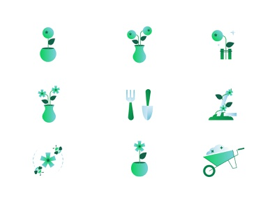 Tools design mongodb illustration database flowers tools garden data