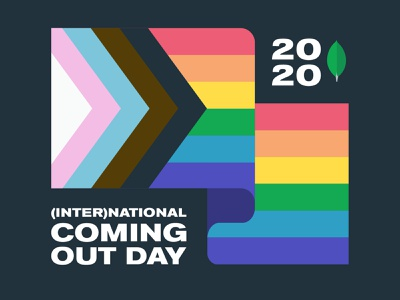 International Coming Out Day lgbtqia mongodb illustraion gaypride