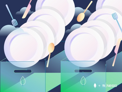 Customer Story Nesto illustraion mongodb cloud tech data boxing archive plates hospitality