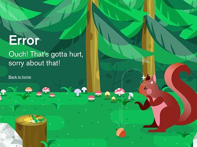 Happy Monday! 404 error vector branding data mongodb illustration squirrel