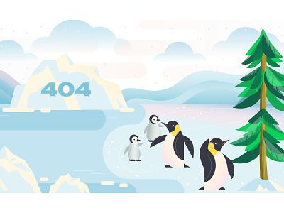 404 page error 404 tree evergreen mongodb illustration animal penguin