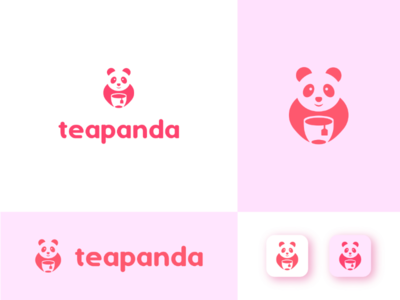 Tea Panda Food Brand logo creative minimalistic symbol logomark vector logotype animal logo foodpanda modern app logo food delivery branding food brand food icon logo design logo brand food panda