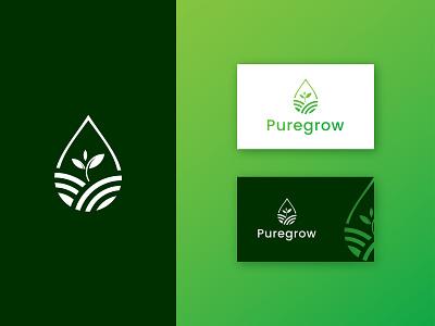 Agro Logo Design grow abstract plant nature logo green eco farming organic agro agricultural modern vector brand minimalist illustration logotype icon branding logo logo design