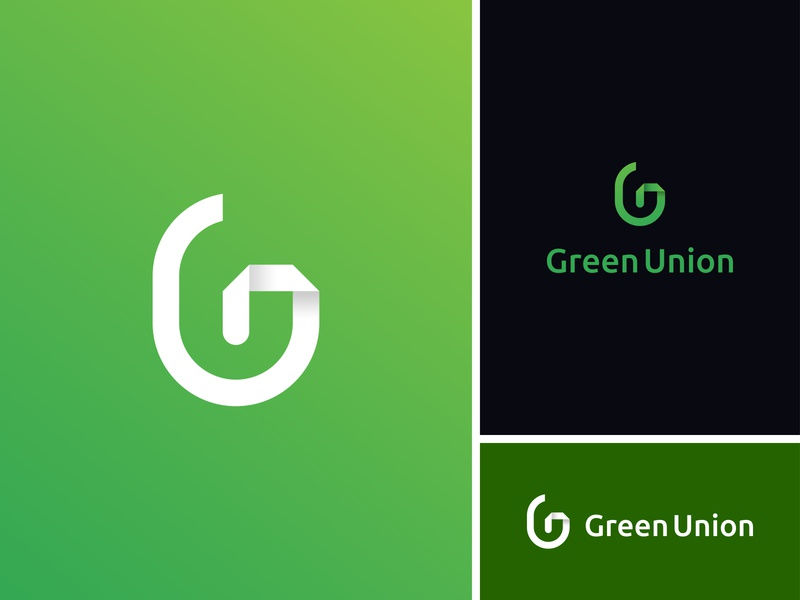 Green Union Logo mark modern logo letter mark logo g letter logo green app monogram logo brand identity creative logo energy logo eco logo symbol logos brand identity minimalist illustration icon branding logo logo design
