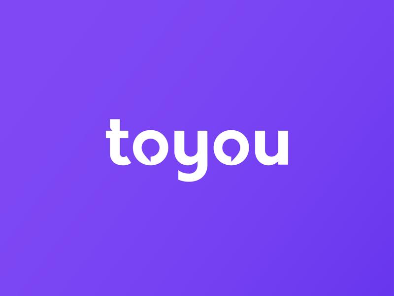 Toyou app icon talking creative simple logo gradeaint logo mark negative space logo chatting logo letter logo lettermark symbol modern identity brand minimalist logotype illustration logo branding logo design
