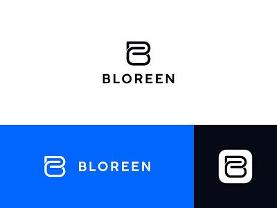 Bloreen Logo design abstract logo minimalist logo app icon b logo mark lettermark b letter logo system creative luxury logo symbol modern identity brand logotype minimalist branding icon logo design logo