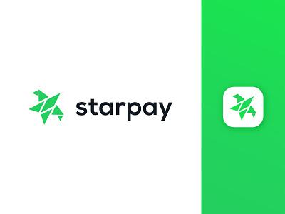 Starpay Logo Design mark lettermark pay star logo payment modern logo monogram abstract logo app logo creative logo brand symbol ui logotype modern icon minimalist branding logo design logo