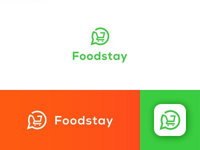 Foodstay App Logo logo designer modern logo online store shopping app 3d abstract app logo app icon monogram creative logo symbol modern brand illustration minimalist logotype icon branding logo design logo