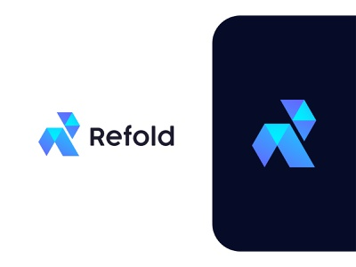 Refold logo mark colorful r mark folder design gradient logo mark abstract logo r letter lettermark creative logo monogram logotype modern logo brand modern symbol logo design icon branding minimalist logo