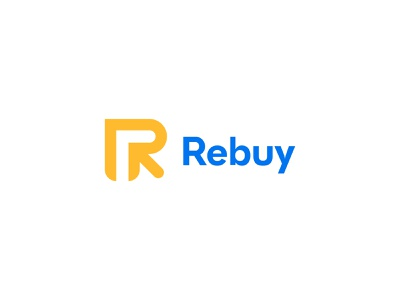 Rebuy logo design identity creative design ecommerce love logo mark flat design minimalist logo icon design r logo creative modern logo lettermark symbol modern minimalist logotype brand logo design branding logo