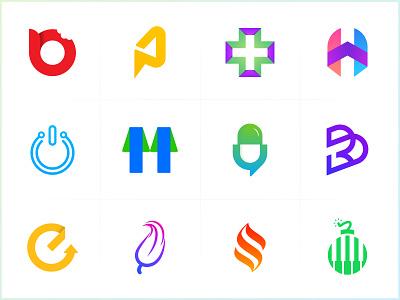 Logos & Marks simple logo unique symbol abstract logos marks 3d vector creative app icon modern minimal illustration brand logotype icon branding minimalist logo design logo