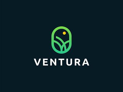 Ventura Agro brand logo design nature green logo abstract unique logo simple logo creative modern logo grow plant agro 3d vector illustration brand logotype icon minimalist branding logo design logo
