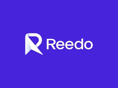 Reedo Mail Logo Design simple logo letter logo r logo plane logo gradient logo minimal creative logo fold icon paper logo mail logo logos 3d modern logo brand logotype icon minimalist branding logo logo design