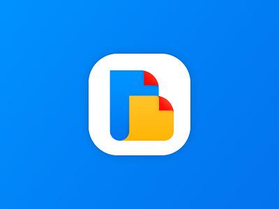 B Letter Fold Icon abstract logo 3d icon 3d logos file logo fold icon unique simple icon creative logo modern logo icon design app icon ui logotype brand icon branding minimalist logo logo design