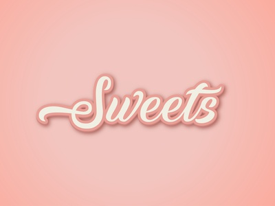 sweets text effect