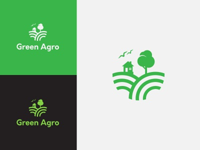 Agricultural logo concept eco logo tree farm agriculture logo graphic design eco green food ui design minimalist food logo illustration icon vector branding logo logo design
