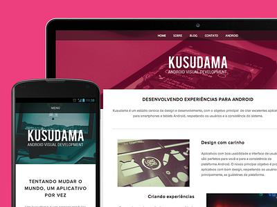 Kusudama website is available! android kusudama design development desenvolvimento brasil