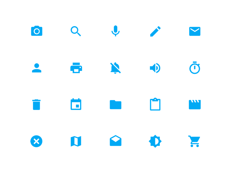 System Icons - Material Design android design material design android l iconography sketch 3 sketch vector icon pack