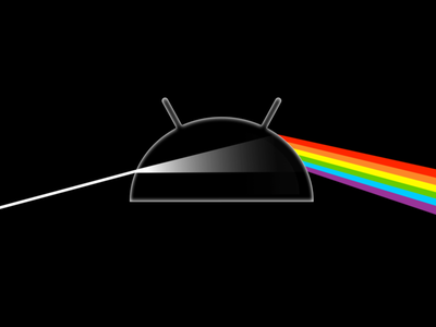 The Dark Side of Android android pink floyd rock dark side of the moon black logo band