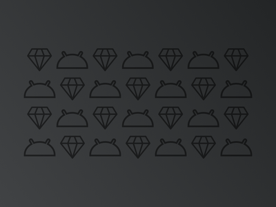 Android + Sketch android head sketch logo diamond sketch android