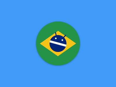 Android Dev BR - Magnet Sticker magnet sticker flag brasil android android dev br