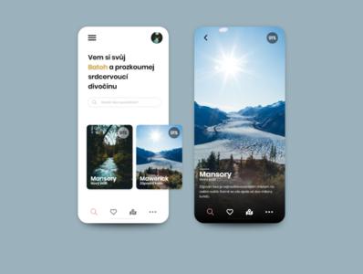 Travel app graphic design ui designer adobexd digital mobile design mobile ui czech webdesig uxdesign uidesign