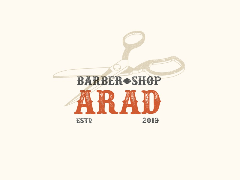 Saalehii Arad Barber Scissors haircut accessories label vintage western kargamashad barber scissor icon portrait logo hair صالحی saalehii tehran iran illustration design