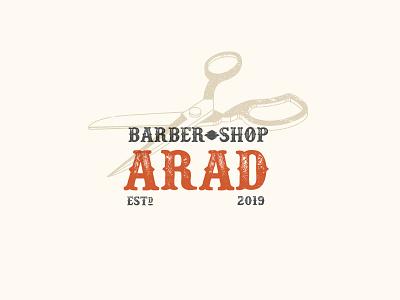 Saalehii Arad Barber Scissors haircut accessories label vintage western kargamashad barber scissor icon portrait logo hair صالحی saalehii tehran iran illustration design