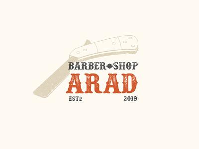 Arad Barber Blade illustrator iran mashhad western haircut badge vintage barber ui tehran typography logo branding hair saalehii صالحی illustration design