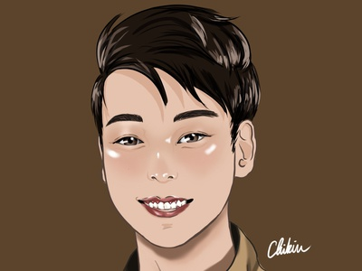 Josh portrait illustration portrait asian boy anime art animeart anime digital illustration digital painting digital art digitalart digital